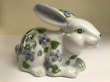 Rabbit coin bank hand painted