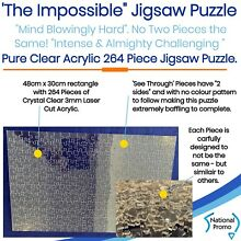 264 piece clear acrylic impossible