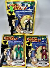 3 playmates dick tracy figures dick