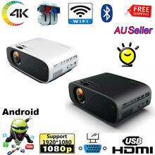 4k 1080p hd projector android wifi
