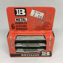 Toys metal hurdles boxed complete