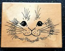 Rubber stamp rabbit face by psx