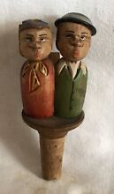 Kissing couple hand carved wooden