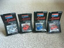 4 toy car mini exacts all boxed