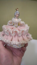 Dresden porcelain lace germany lady
