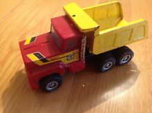 Pressed metal toy tipper lorry