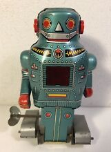 Mechanical tin wind up mighty robot