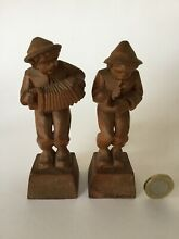 2 x style musicians wood carving