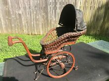 Baby doll pram stroller buggy brown