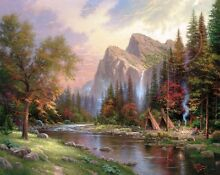 Mountains declare his glory 24x28 s
