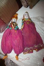 Indian puppets dolls carved wooden