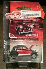 Citroen 2cv black red new on card