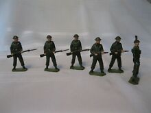 Set of six britains infantry