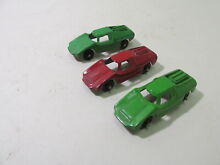 Red green fiat abarth small scale