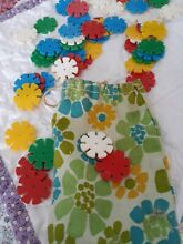 Tiddly winks game in handmade bag