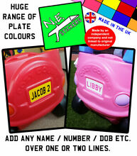 Personalised rear number plate to