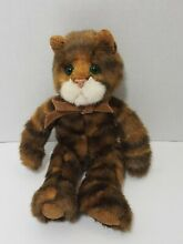 Plush brown striped tabby cat kitty