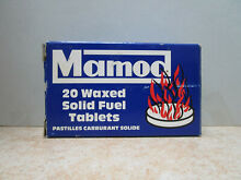 20 genuine waxed solid fuel tablets