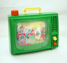 Wind up musical scrolling tv old