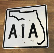 Florida a1a road highway authentic