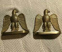 Brass eagle bookends rare pair of