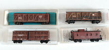 Micro trains stock cars x3 caboose