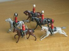 Britains lead mounted soldiers x 5