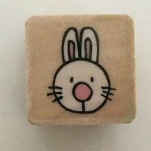Tiny rabbit face rubber stamp