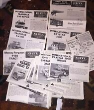 Instructions for model kits various