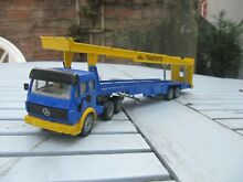 Mercedes benz car transporter in