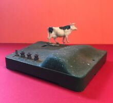 Cow on track