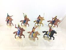 Lot 7 mounted wild west indians
