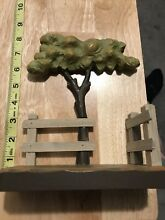 Italy hand carved tree fence and