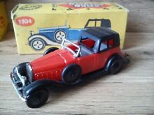 Old plastic toy car hispano suiza