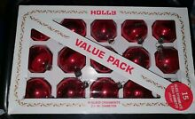 1960 70 s holly red glass baubles