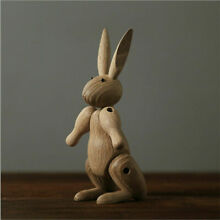 Wooden hare rabbit articulated
