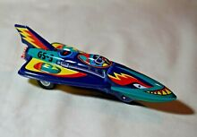 New tin toy 6 friction blue space