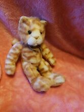 Tabatha 8 cat plush doll orange