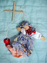 Wooden wood girl puppet toy doll