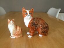Rushton pottery cat and another