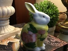 Yellow pink floral rabbit bunny
