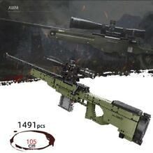1491 pc building block toy gun awm
