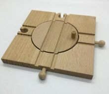Wooden railway turntable switch