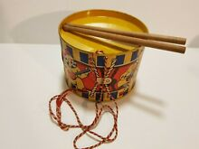Toy tin drum lithography england
