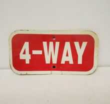 Authentic retired 4 way stop sign