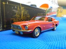 1968 ford mustang fastback in red