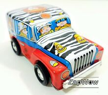 Safari jeep s clockwork wind up tin