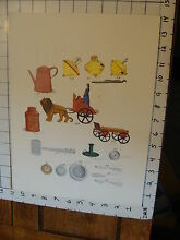 11 x 14 toy poster tin toy tops
