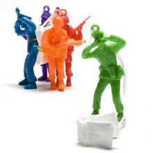 6 x parachute toy soldiers boys