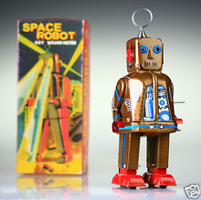 Collectable tin toy japanese robot